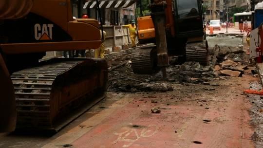 Ciclovia é removida para dar lugar ao corredor Inajar de Souza