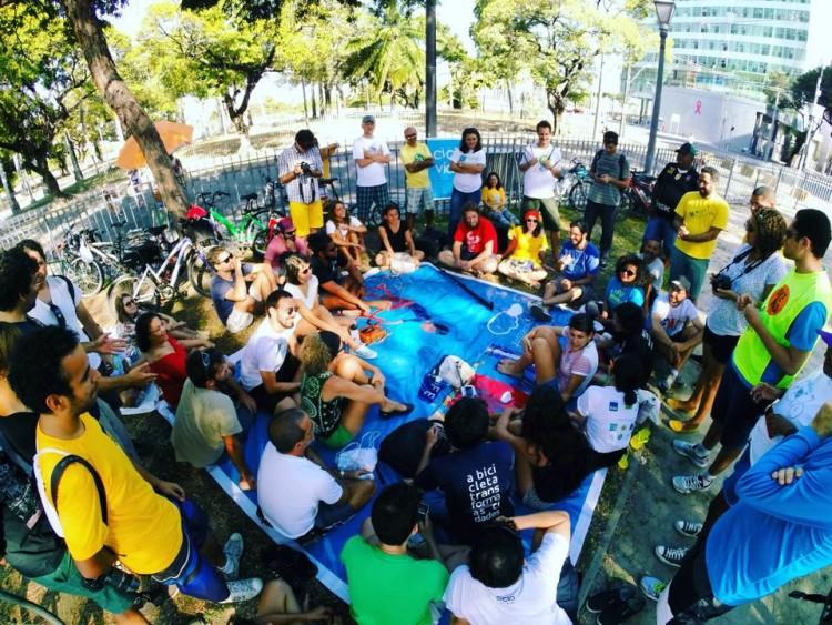 Assembleia final do Fórum  Nordestino da Bicicleta (Foto: Ameciclo)