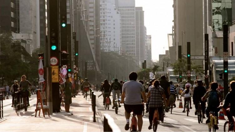 Avenida Paulista em dia de Paulista Aberta (Foto: Rachel Schein/ Página da Rachel)