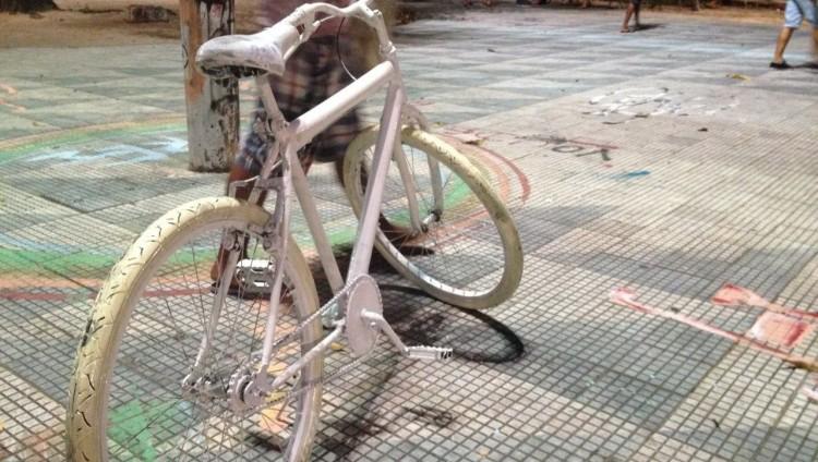 Futura bicicleta compartilhada em Fortaleza (Foto: Anônimo/Massa Crítica)